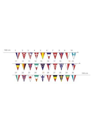 Vlaggenlijn internationaal puntvorm