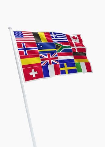 16 landen vlag