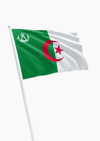 Algerijnse koopvaardij rechtformaat vlag