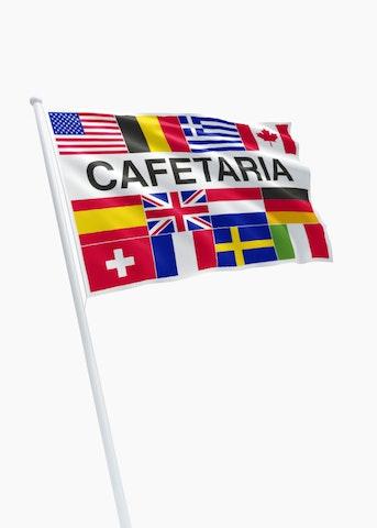 Cafetaria vlag