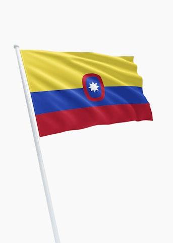 Colombiaanse koopvaardij rechtformaat vlag