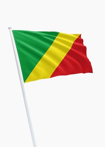 Congo-Brazzaville vlag huren