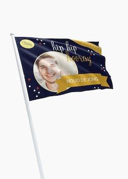 Geslaagd vlag met eigen ontwerp