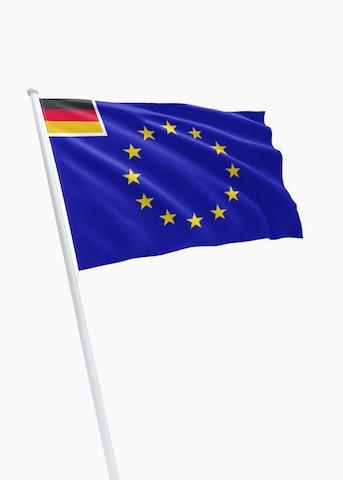 E.U. - Duitsland koopvaardij rechtformaat vlag