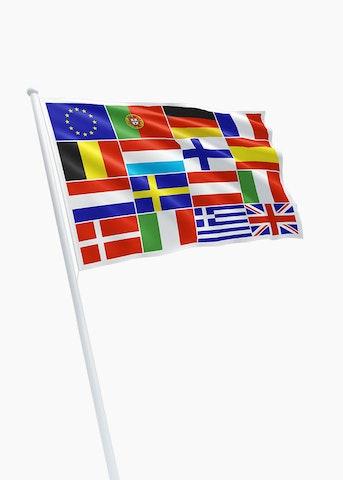 E.U. + 15 landen vlag