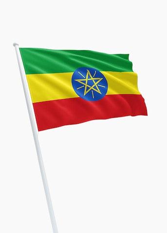 Ethiopische vlag huren