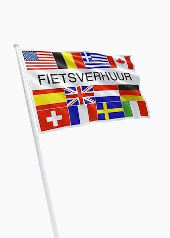 Fietsverhuur vlag