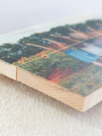 Foto op hout