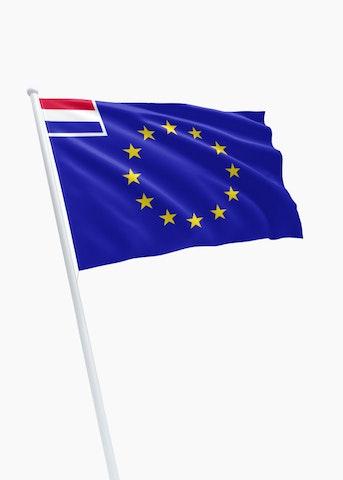 E.U. - Nederland koopvaardij rechtformaat vlag