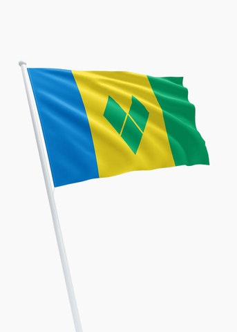 Saint Vincent en de Grenadines vlag