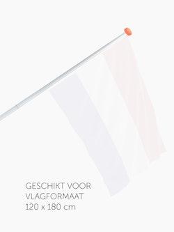 Tweedelige vlaggenstok