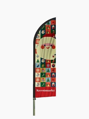 Kerst beachvlaggen