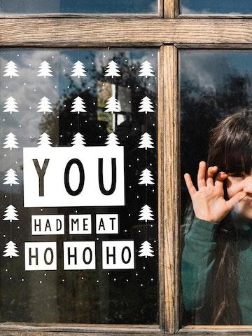 Kerst raamsticker (herbruikbaar)
