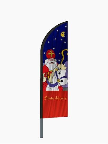 Sinterklaas te paard beachvlag