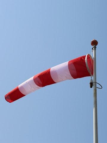 Windzak rood/wit